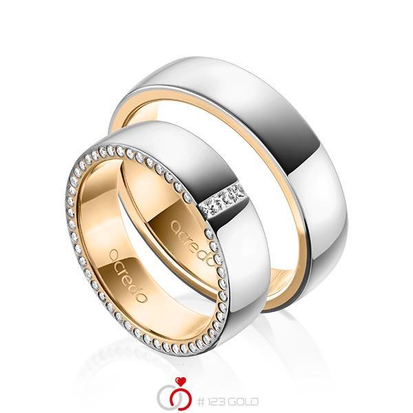 A-1539-1 ab 3.775,00 EUR in 585/- Grau- & Rosegold